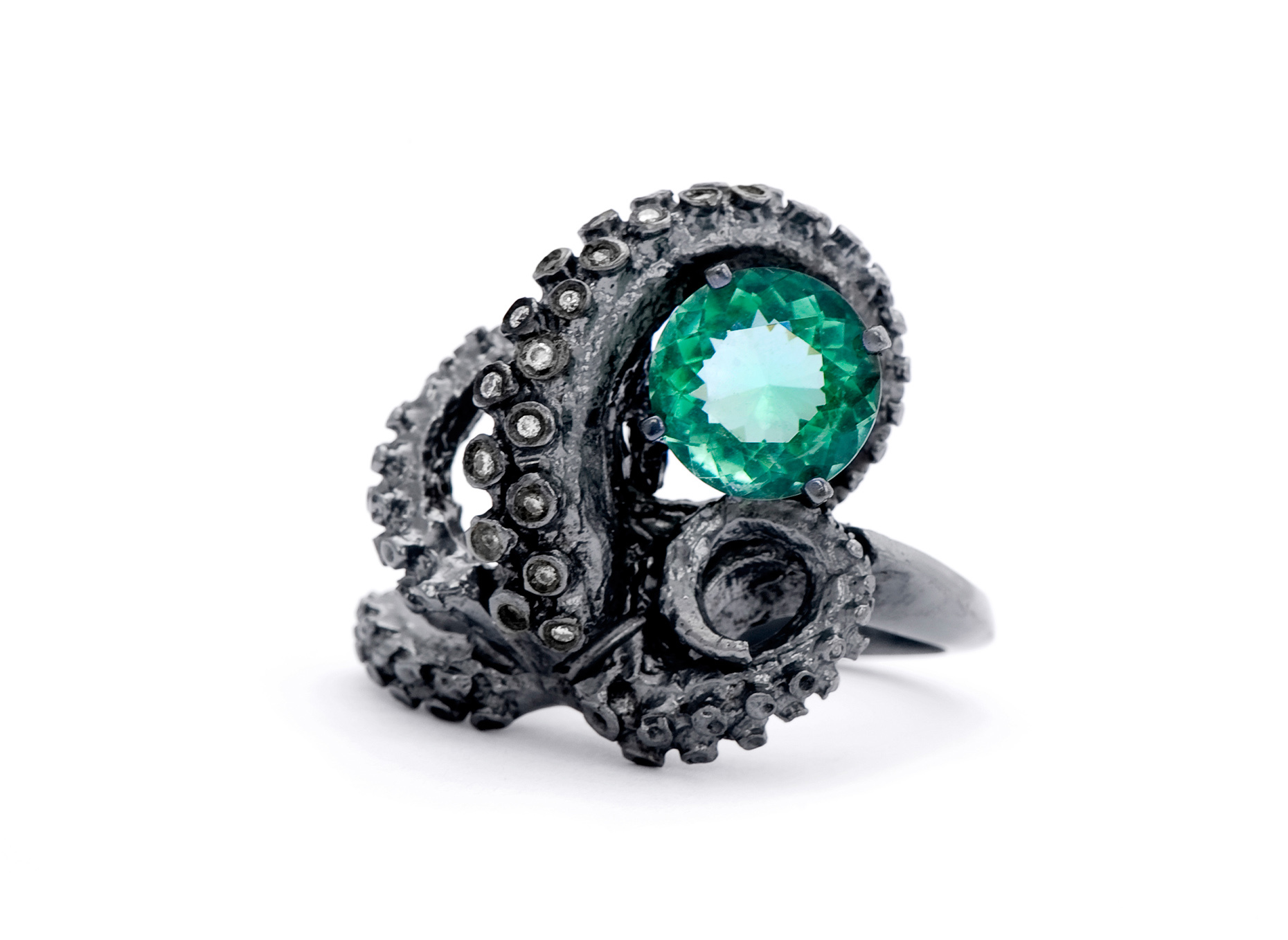 Tentacle-Ring-with-Green-Jewel-by-Peggy-Skemp_RHanelPhotography