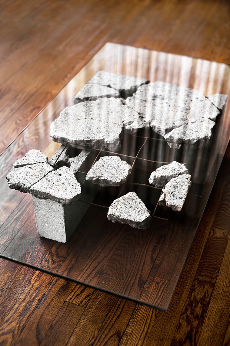 William-Fitzpatrick_Furniture-Design_Broken_Cement-Glass-Table_RHanelPhotography_0
